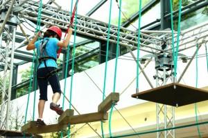 Freizeit: Hoch hinaus – Kletterparcours in der Trier Galerie