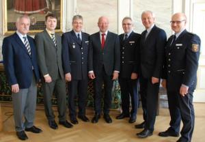 Polizeipräsident Schömann stellt neue Führungskräfte vor