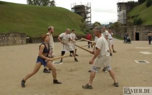Kämpfen gegen das Klischee: Gladiatorenworkshop