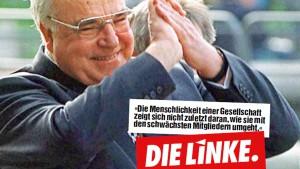 Nach Papst Franziskus zitiert DIE LINKE Helmut Kohl
