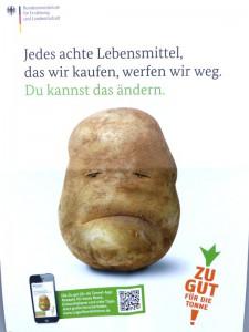 Die Kartoffel guckt komisch – in die Tonne damit!?