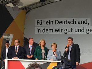 Angela Merkel auf Wahlkampftour in Trier
