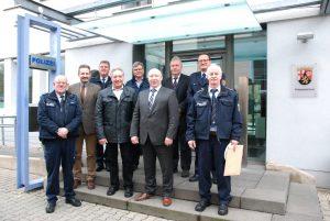 Sieben Polizeibeamte feiern 40-jähriges Dienstjubiläum