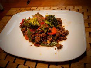 Leckere Hackfleisch-Bohnen-Pfanne zum Nachkochen
