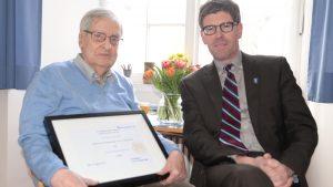 Uni Trier verleiht Professor Arnd Morkel die Ehrenbürgerschaft