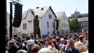 5vier.de war bei der Enthüllung der Karl Marx Statue dabei!