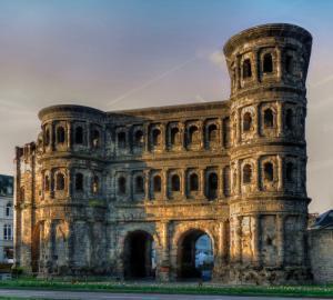 Antike Reiseroute durch Trier