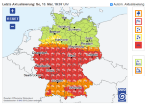 """Sturmtief """"Eberhard"""" hält Trierer Feuerwehr im Dauereinsatz"""